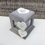 Shabby Chic PERSONALISED Rustic Wood In Memory Of DAD Photo Cube ANY NAMES - 332869701579